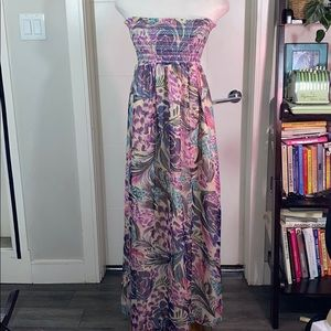 Beautiful Strapless Maxi Gown